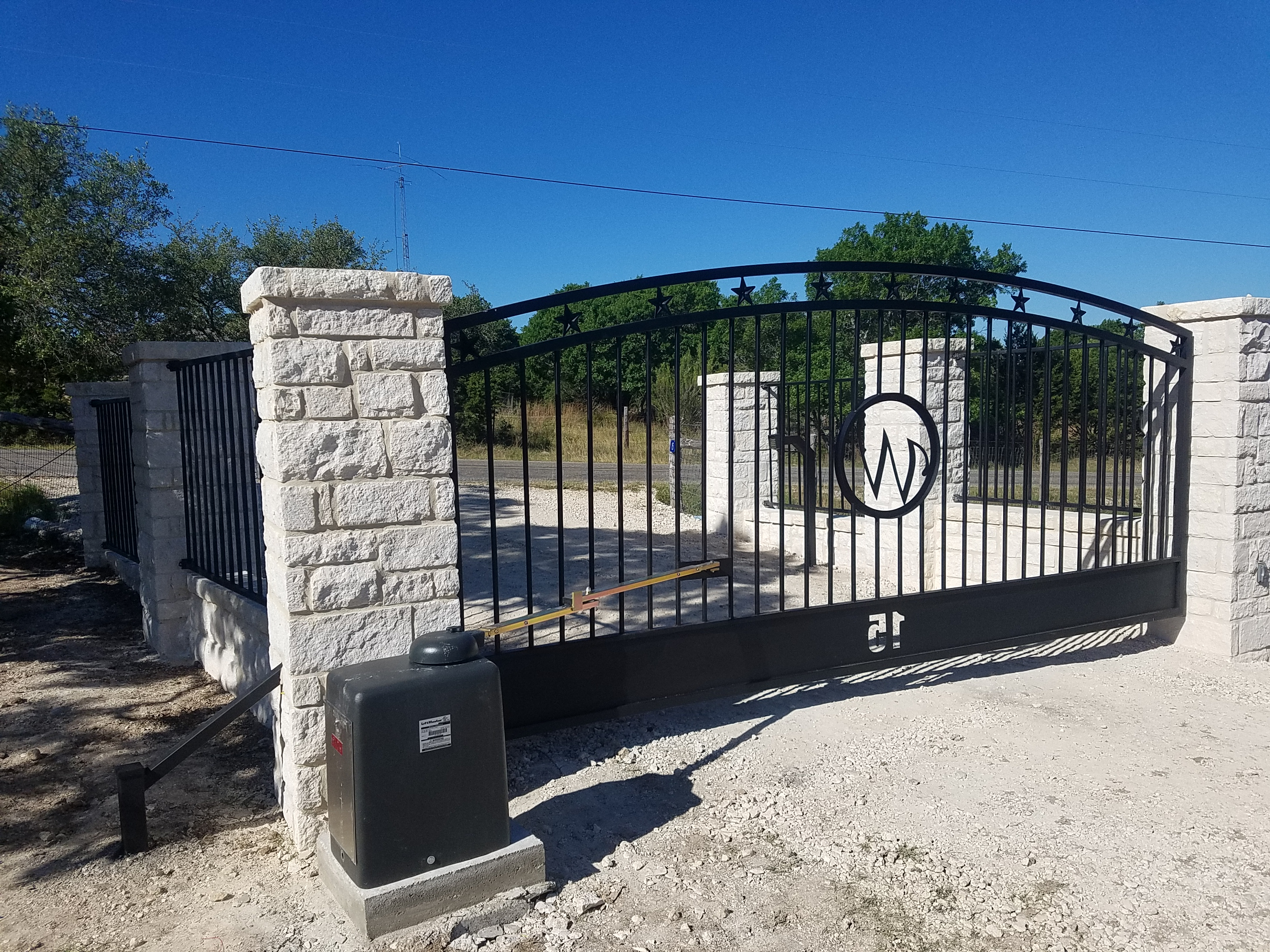Precision Auto Gates in Texas Hill Country